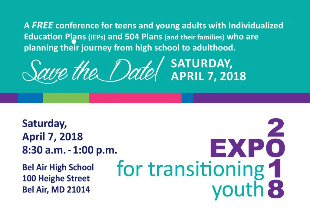 Transitioning Youth Expo, Saturday, April 7, 2018 8:30 a.m.-1:00 p.m.